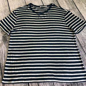T Alexander Wang, striped slub jersey Tee, L